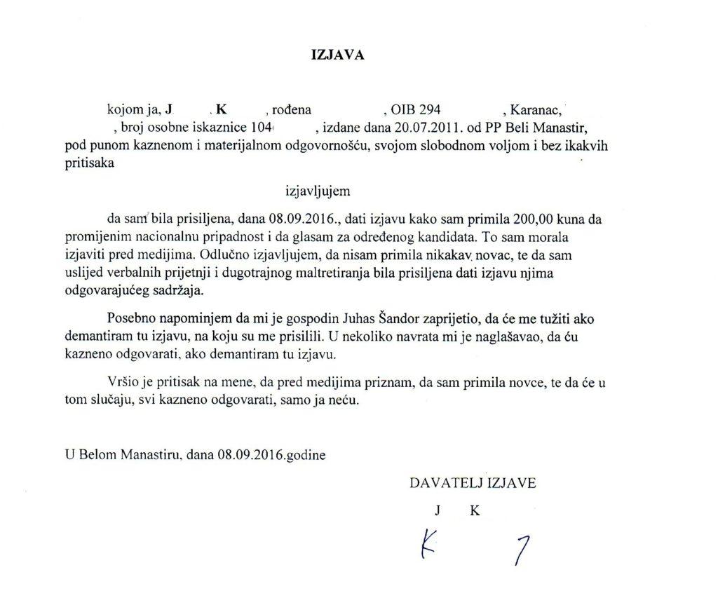 Dokument, izjava